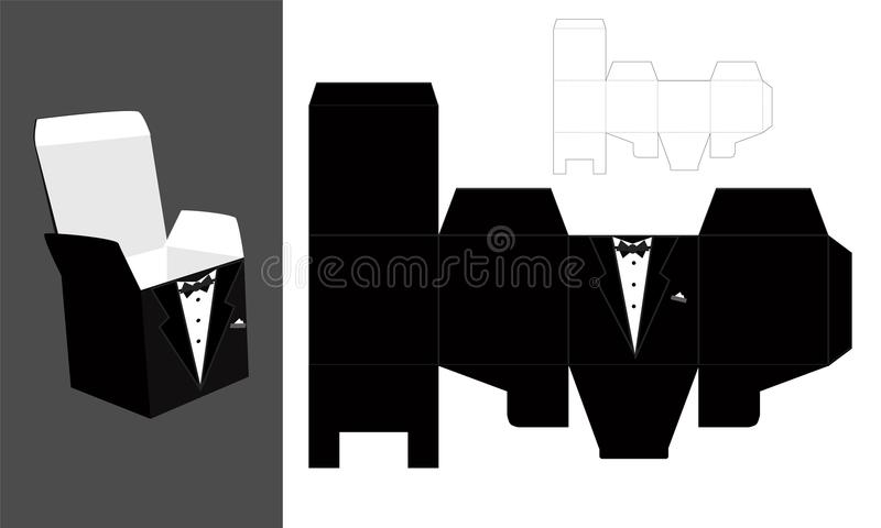 Tuxedo printable square packaging with lid groom wedding favor download tuxedo printable square packaging with lid groom wedding favor box fast malvernweather Image collections