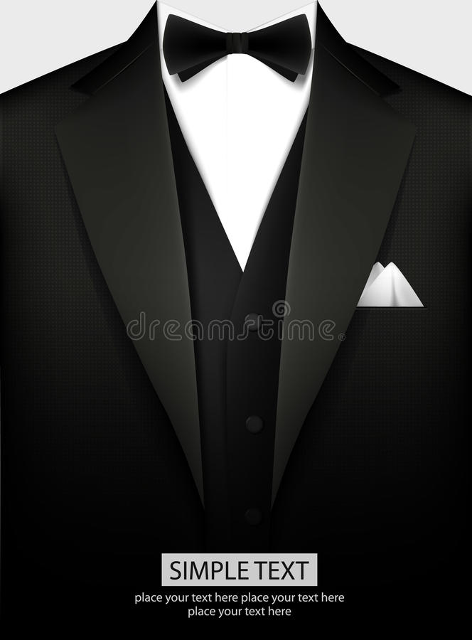 Free Tuxedo With Bow Royalty Free Stock Photo - 49551305