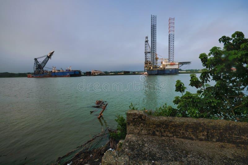 Tuxpan River, Mexico stock photo