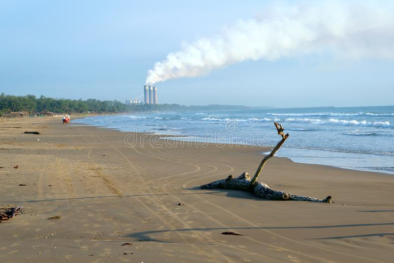 Tuxpan-Strand, Mexiko lizenzfreie stockbilder
