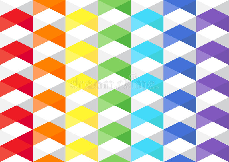 Tuxture do polígono do arco-íris fotos de stock