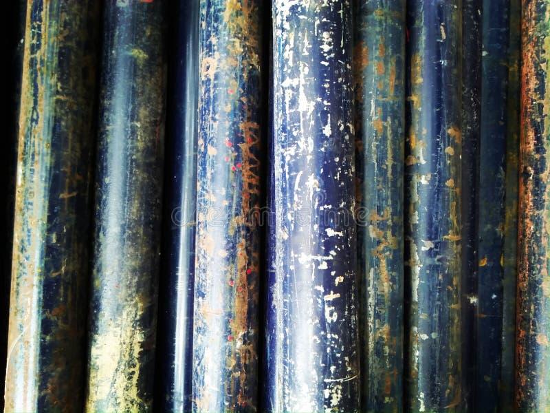 Tuyau bleu de rouille photo libre de droits