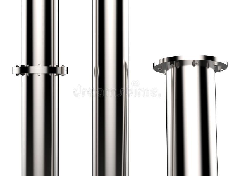 Tuyau brillant en métal illustration stock