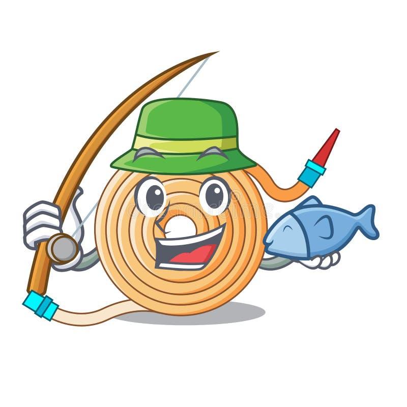 Tuyau d'eaux de pêche pour s'éteindre le feu illustration libre de droits