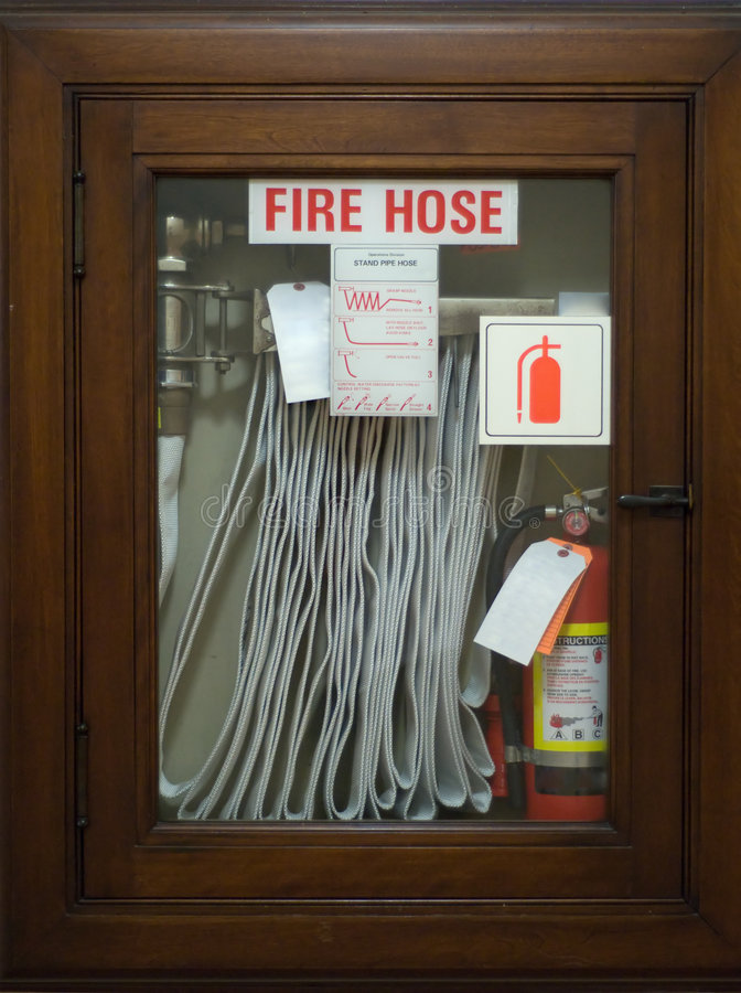Tuyau d'incendie de secours images libres de droits