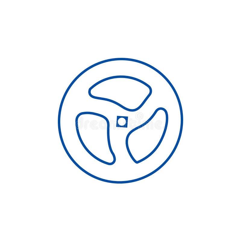 Tuyau de volet, ligne concept de valve d'icône Tuyau de volet, symbole plat de vecteur de valve, signe, illustration d'ensemble illustration stock