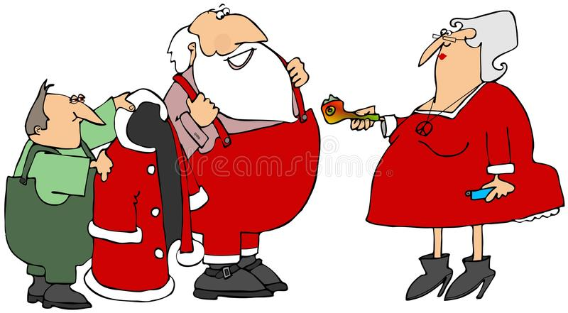 Tuyau du pot de Santa illustration stock