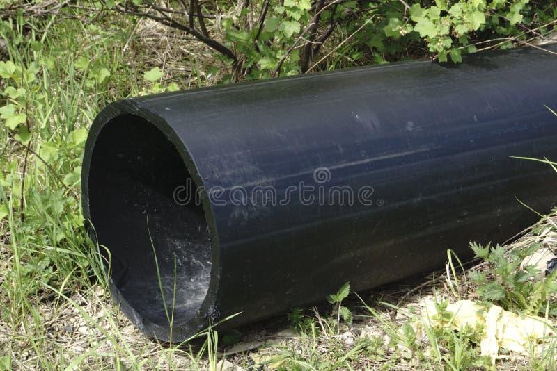 Tuyau potable de stockage de HDPE, canalisation de HDPE photographie stock libre de droits