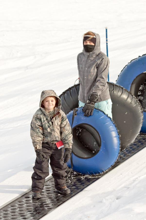 Tuyauterie de neige image libre de droits