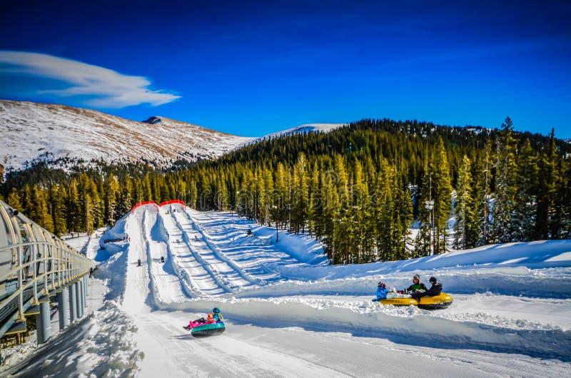 Tuyauterie de neige - clef de voûte - le Colorado images libres de droits