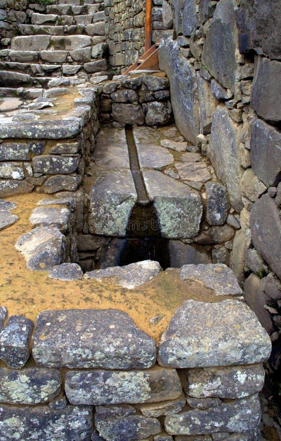 Tuyauterie Machu Picchu photos libres de droits