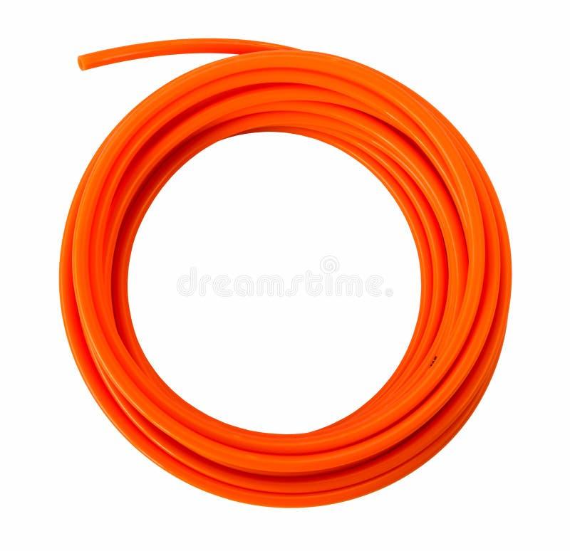 Tuyaux oranges de PVC de plastique photographie stock