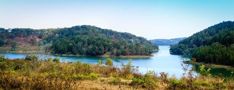 Tuyen Lam湖-大叻市 库存照片