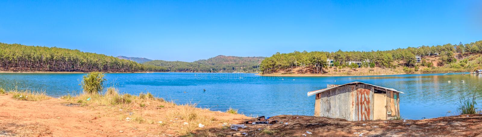 Tuyen Lam Lake - Da Lat. Tuyen Lam Lake is a lake in the city of Da Lat, Lam province. It is the largest freshwater lake in Da Lat, with an area of about 320 stock photo