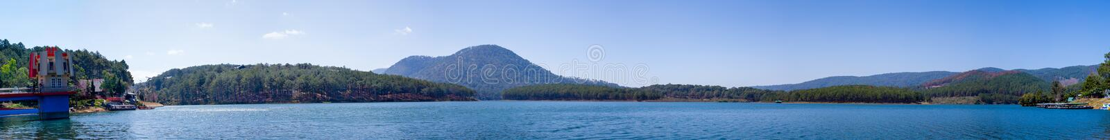 Tuyen Lam Lake - Da Lat. Tuyen Lam Lake is a lake in the city of Da Lat, Lam province. It is the largest freshwater lake in Da Lat, with an area of about 320 royalty free stock images