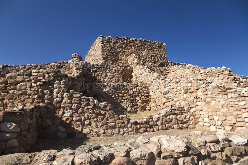 Tuzigoot Krajowego zabytku osady Antyczne Rodzime Indiańskie ruiny zdjęcia royalty free