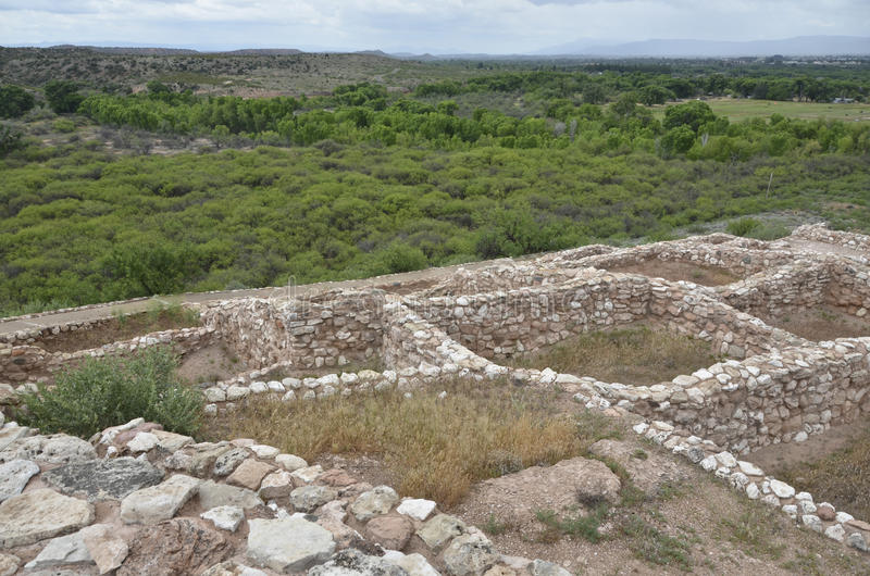 Tuzigoot Nationaal Monument stock foto's