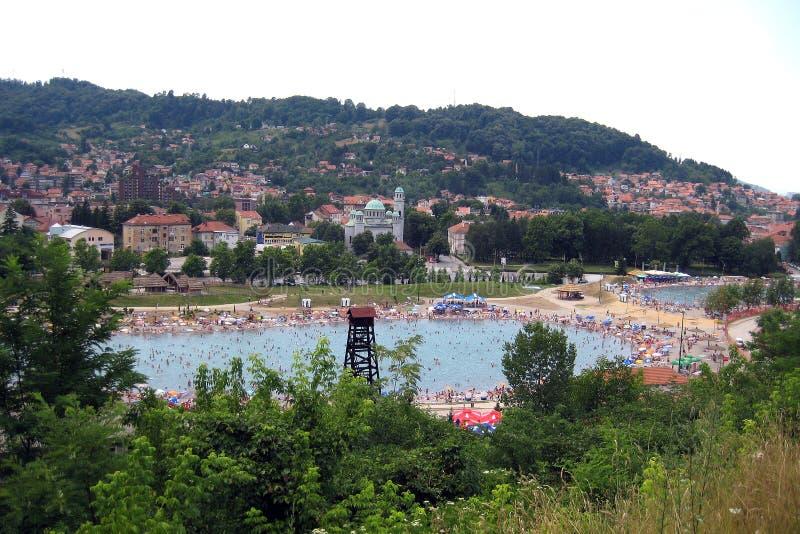 Tuzla salt sjö fotografering för bildbyråer