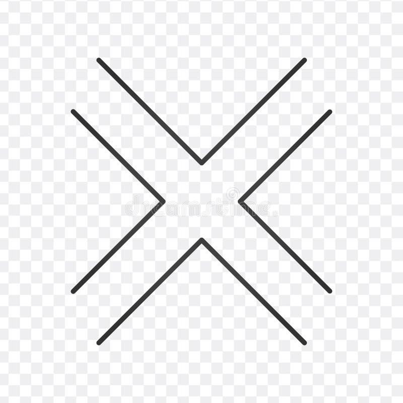 Tvärgatasymbolsvektor som isoleras på vit bakgrund, genomskinligt tecken för tvärgata, linjen symbol eller linjär beståndsdeldesi stock illustrationer