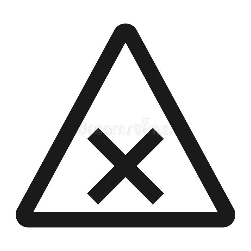Tvärgator undertecknar linjen symbol, trafik och vägmärke vektor illustrationer