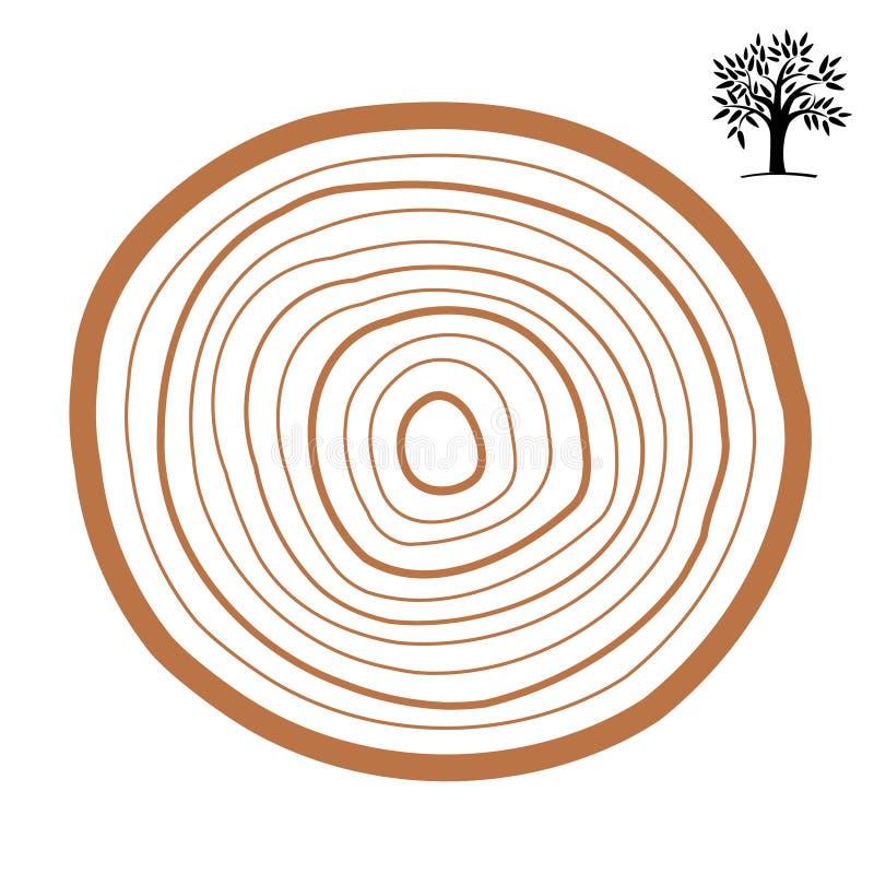 Tvärsnitt av en trädabstrakt begreppcirkel color vektorn för det set symbolet för flamman vektor illustrationer