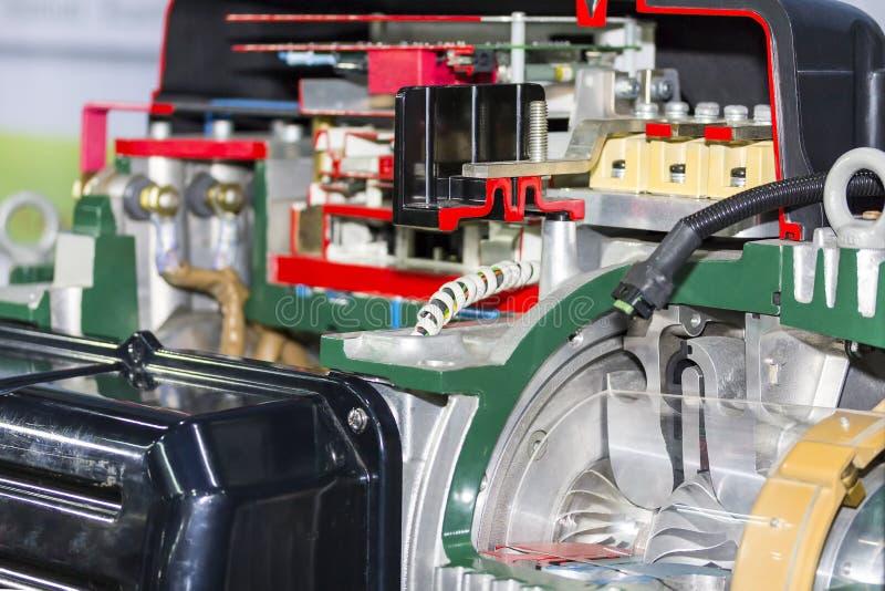 Tvärsnittdetalj inom centrifugal industriell blåsare för elektromagnet royaltyfri fotografi