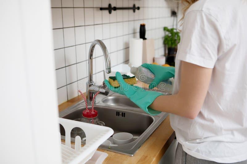 Tvätt av disken arkivbild
