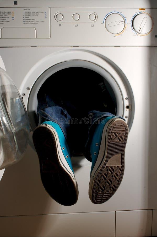 tvätt för 4 maskin royaltyfria bilder