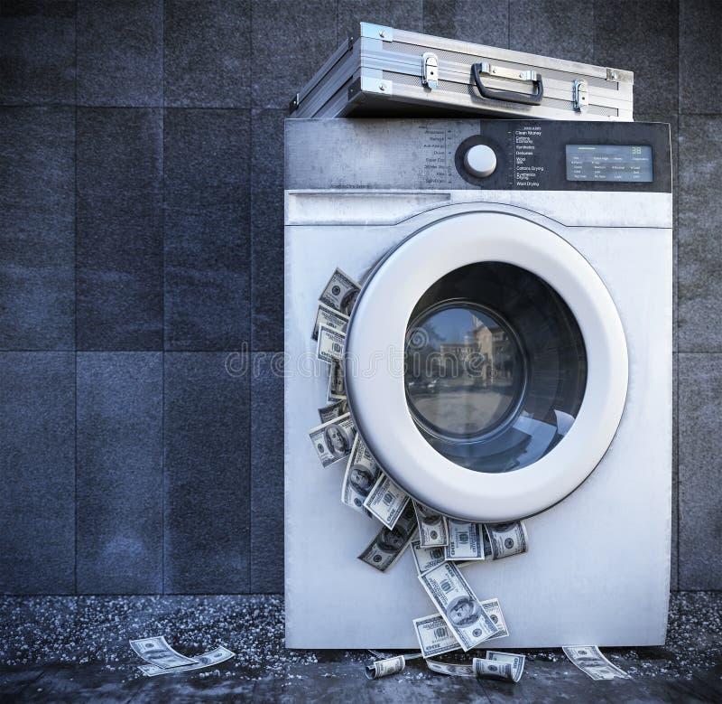 Tvätta av closeupen för begrepp för bakgrund för pengaraffär arkivfoton