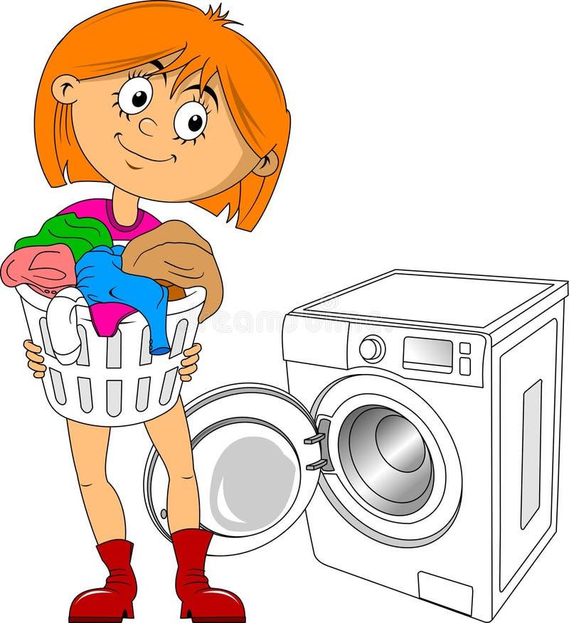 Tvätta kläderna vektor illustrationer