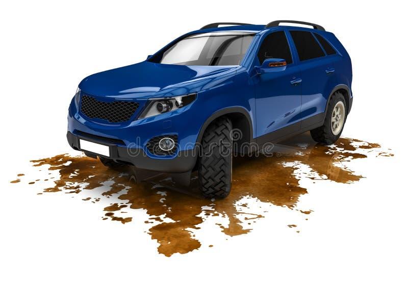 tvättad bil stock illustrationer