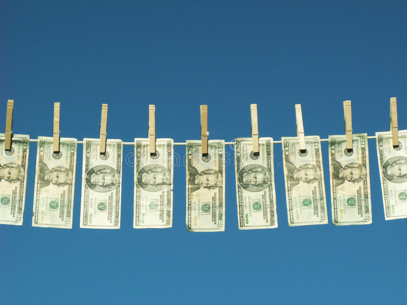 tvättade pengar royaltyfri foto