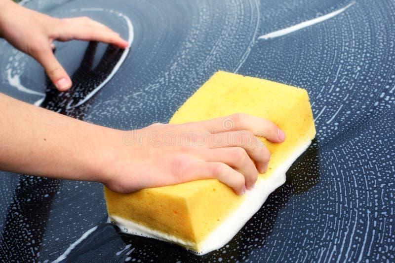 Tvättande bil royaltyfri fotografi
