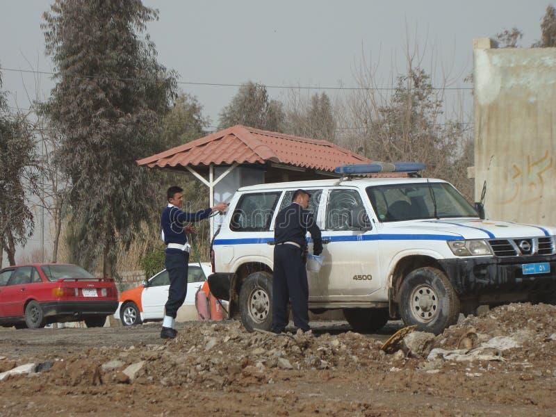 Tvättande bil för den Kurdish polisen arkivbilder