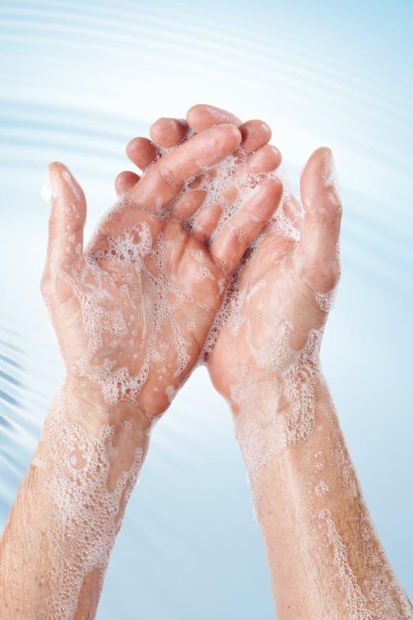 Tvättande handhygien royaltyfri fotografi