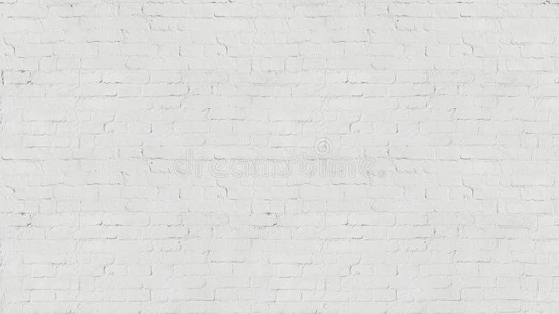 Tvättar gammal vit för tappning textur för tegelstenväggen för design Panorama- bakgrund för din text eller bild royaltyfria foton