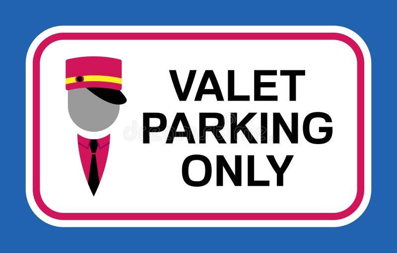 Tvättar tvättar symbolet och den enda skylten för parkering royaltyfri illustrationer