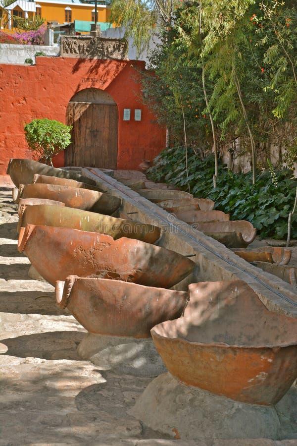 Tvätteri i Santa Catalina Monastery, Arequipa fotografering för bildbyråer