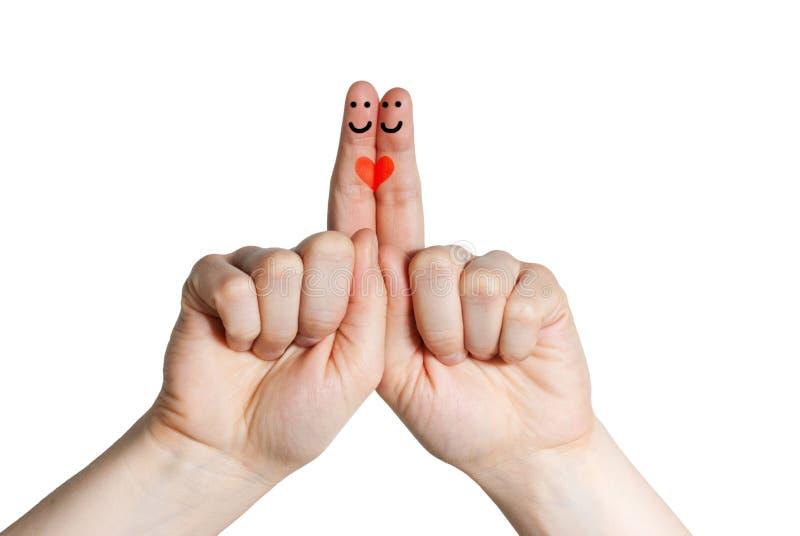 Två älska fingrar royaltyfria foton