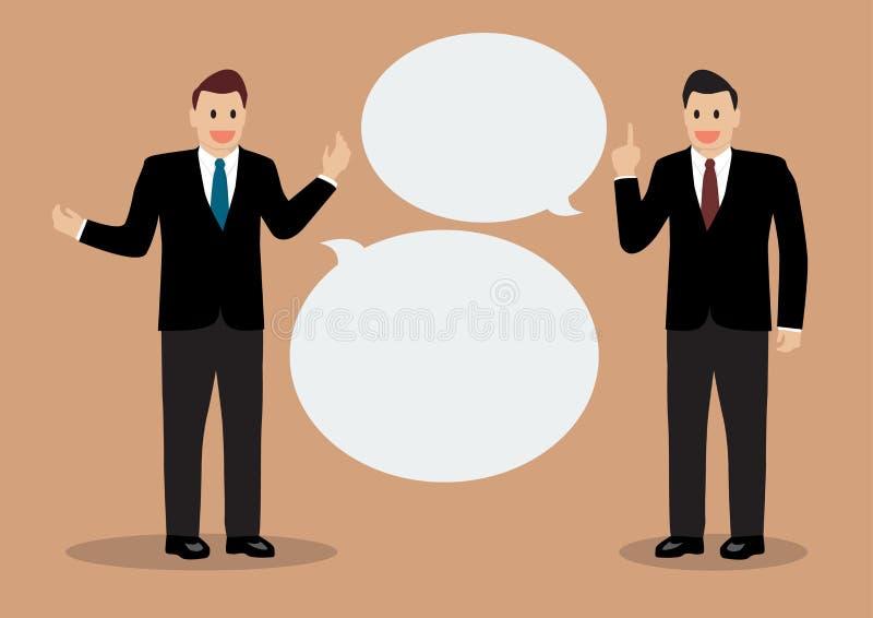 Två affärsmän som diskuterar royaltyfri illustrationer
