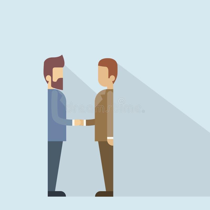 Två affärsman Hand Shake, handskakning för affärsman royaltyfri illustrationer