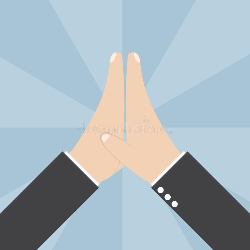 Två affärsmanhänder som ger höga fem vektor illustrationer
