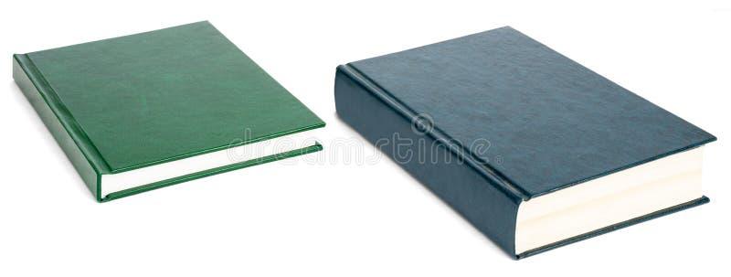 Två böcker med tomma räkningar som isoleras på vit fotografering för bildbyråer