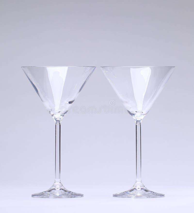 Två coctailexponeringsglas
