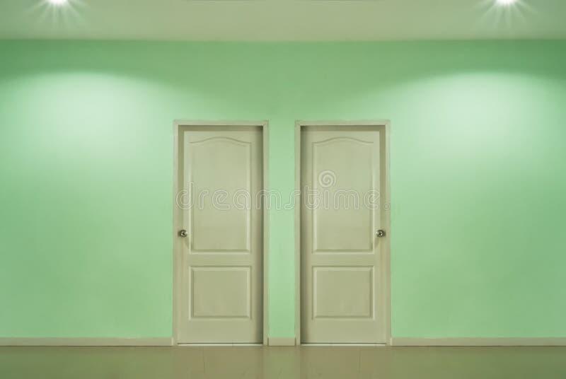Två dörrar arkivbild