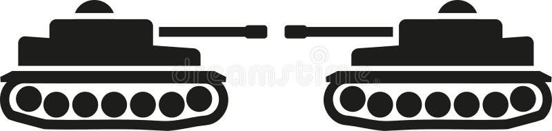 Två defensing behållare royaltyfri illustrationer