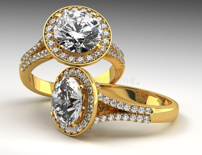 Download Två Diamond Rings stock illustrationer. Illustration av shine - 37349904