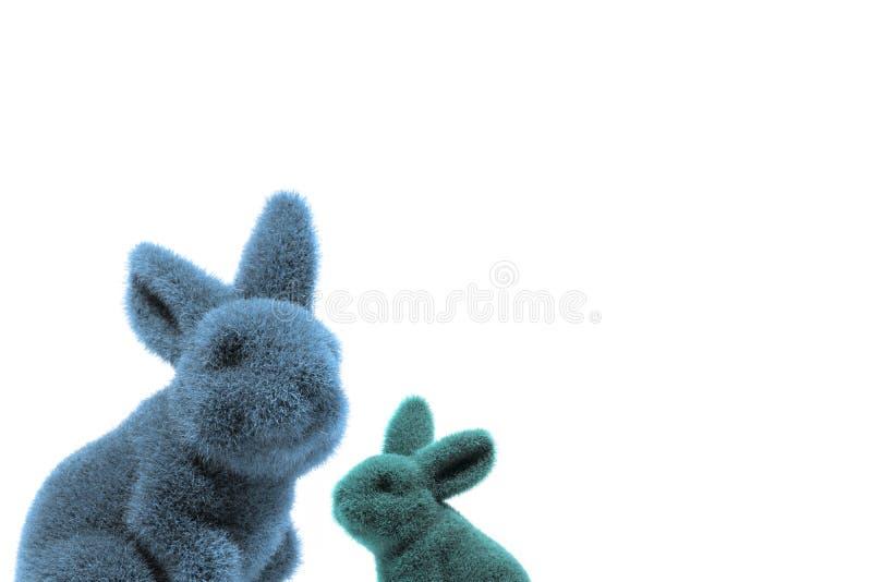 Två easter kanins sammansättning arkivfoton