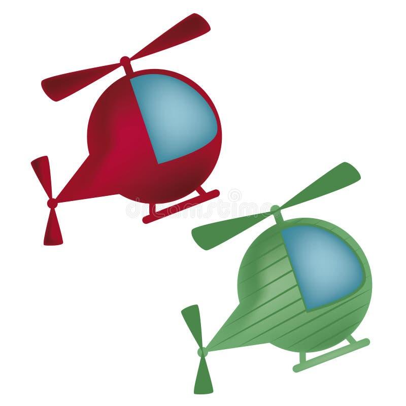 Två helikoptrar royaltyfri illustrationer
