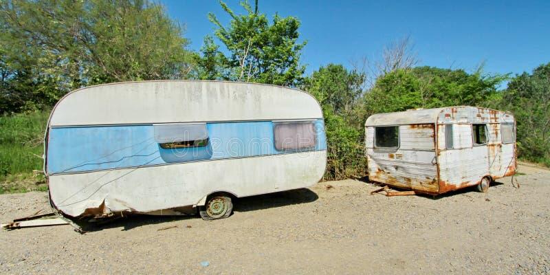 Två husvagnar royaltyfria bilder